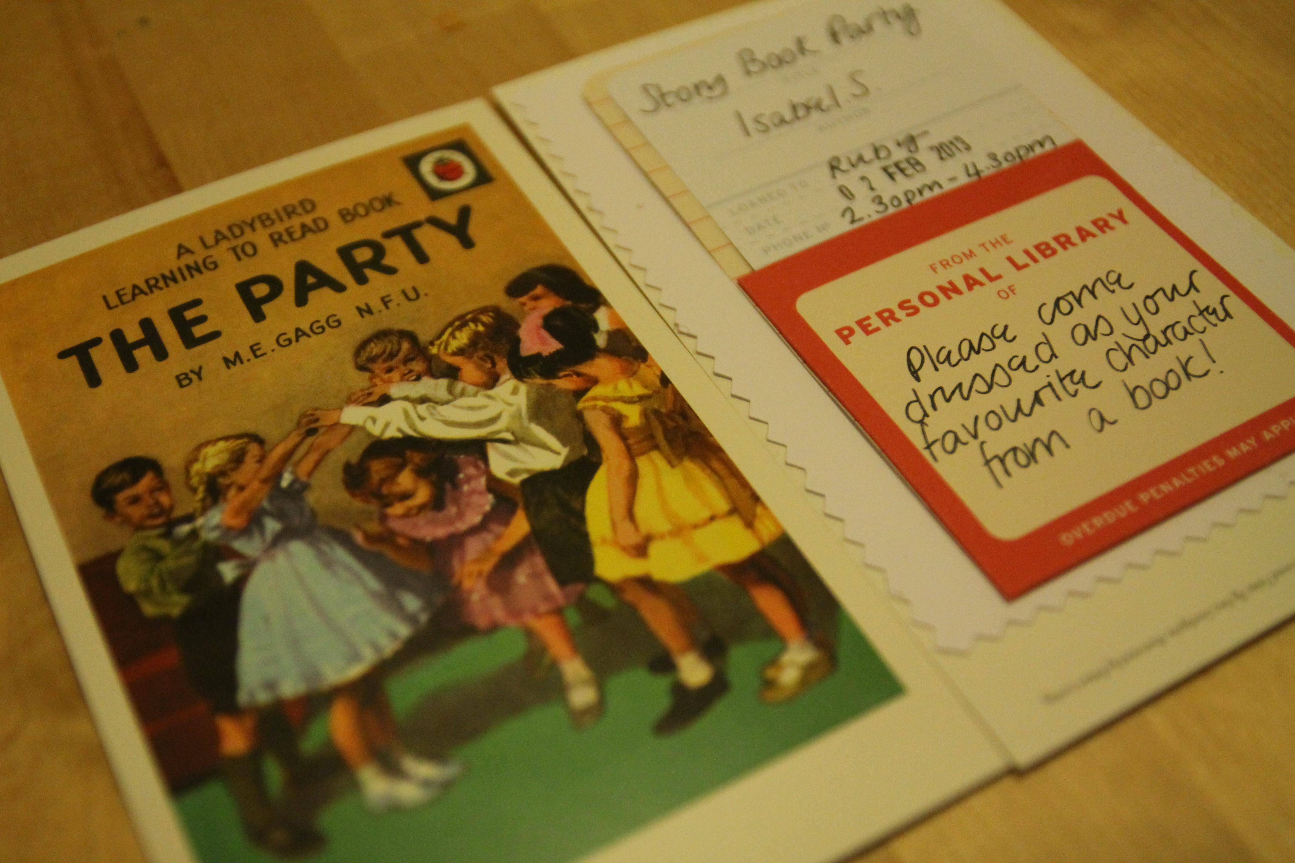 Story Book Party Invitations | Love Audrey How To Be Lovely | UK ...
