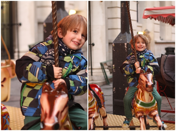 Jesse on the carousel