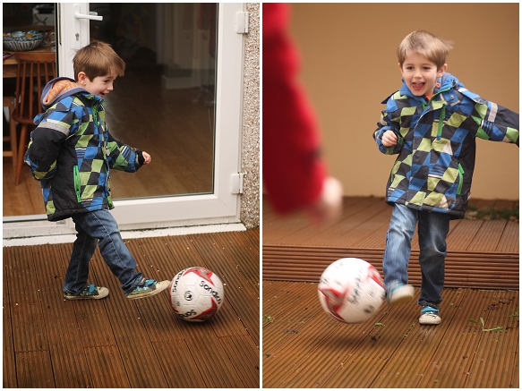 Jesse playing football