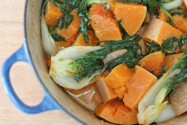 Butternut Squash and Baby Pak Choi Curry