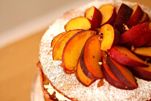 Peaches & Cream Salted Caramel Cake