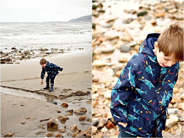 Joules Boys Shark Print Coat