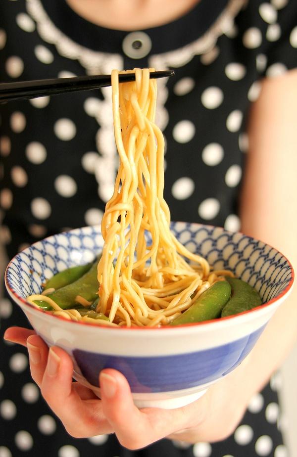Asian Style Salmon Noodles