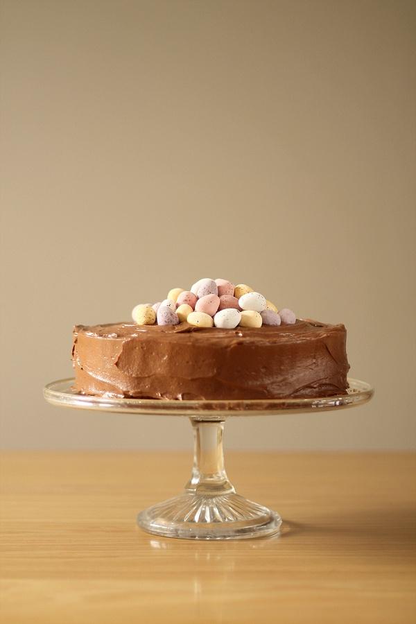 Chocolate Easter Cake with Mini Eggs