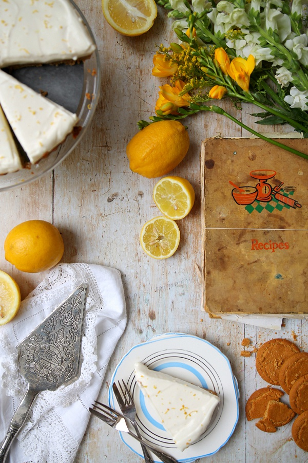 Ginger Biscuit and Lemon Cream Pie Love Audrey UK Food and Lifestyle Blog