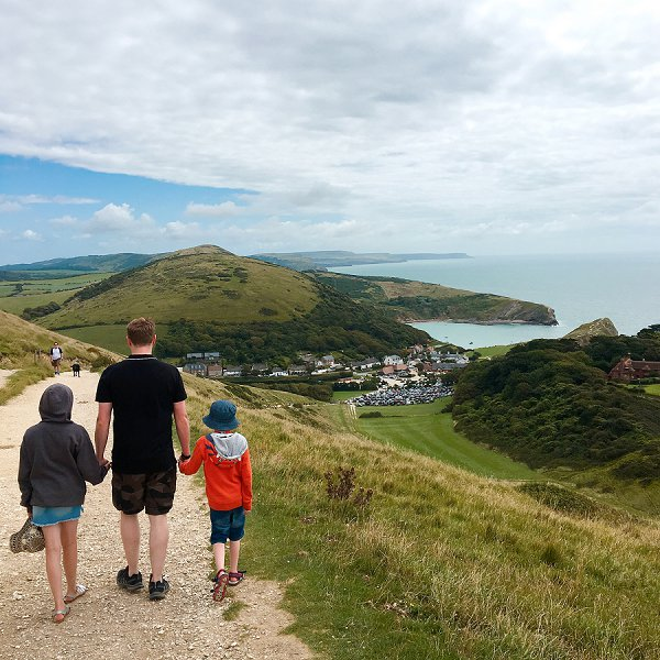 Love Audrey Walking at Lulworth Cove
