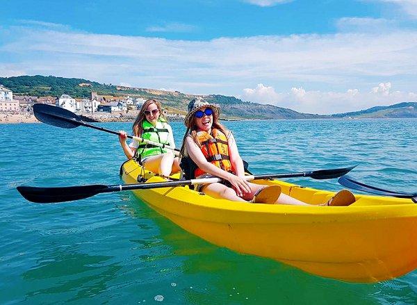 Love Audrey Kayaking at Lyme Regis