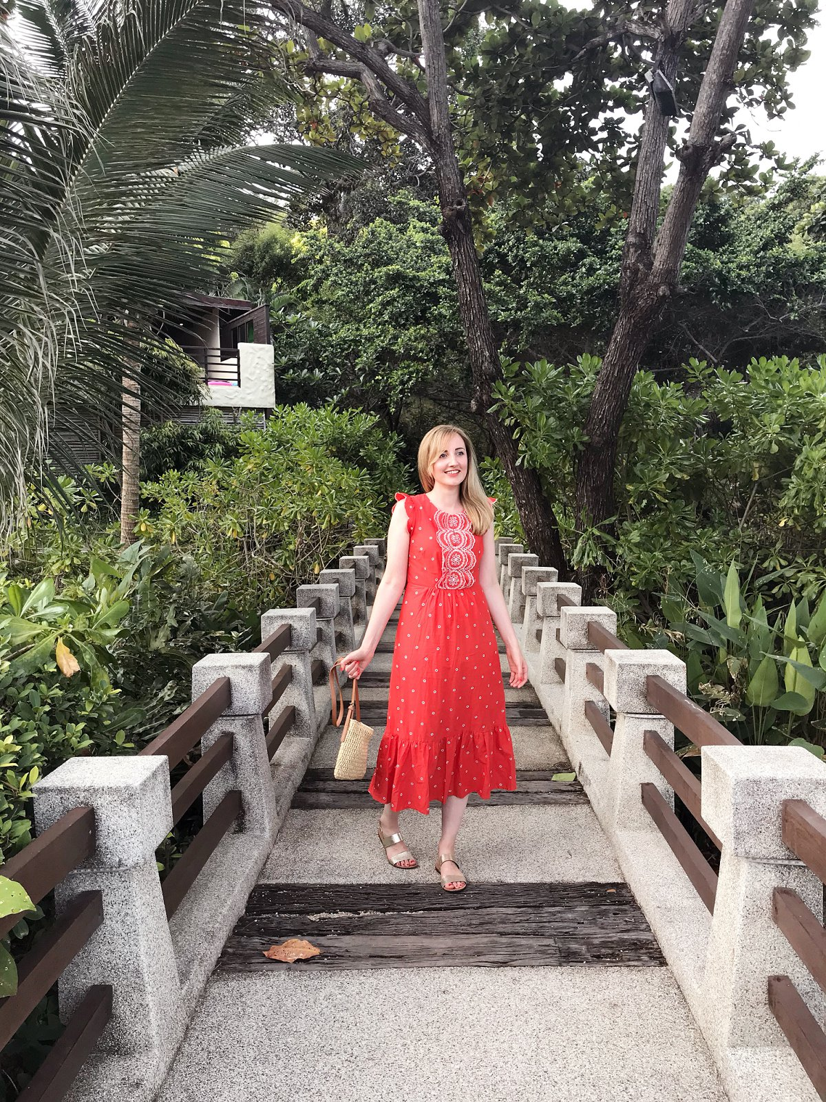 Love Audrey Tongsai Bay Hotel Koh Samui Red Boden Dress