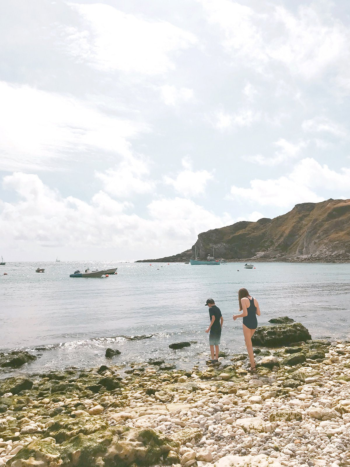 Children playing at Hope Cove