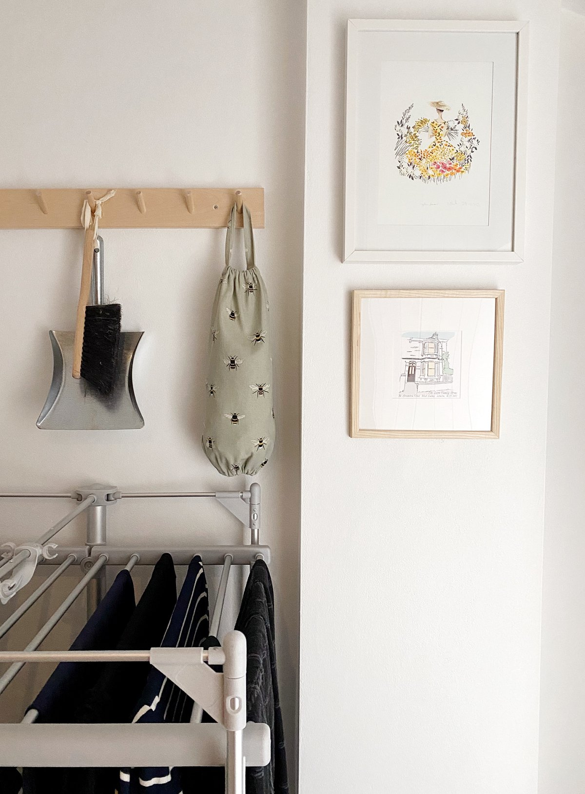 Love Audrey laundry room makeover Lakeland heated drying rack